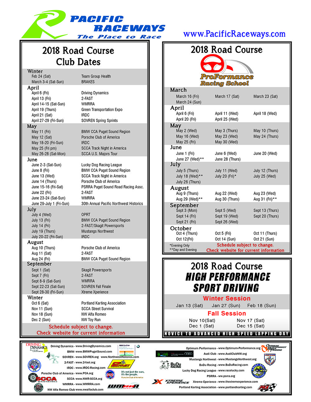 road course schedule pacific raceways pacific raceways
